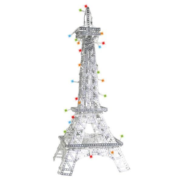 Метален конструктор - Айфеловата кула с LED светлини